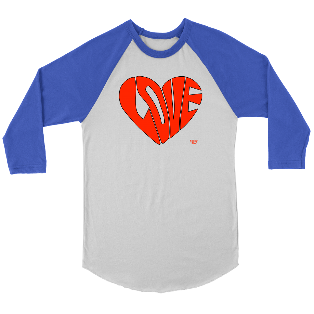 Love Heart Graphic Raglan - Audio Swag