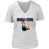 Michelle Strong Ladies V-neck T-shirt - Audio Swag