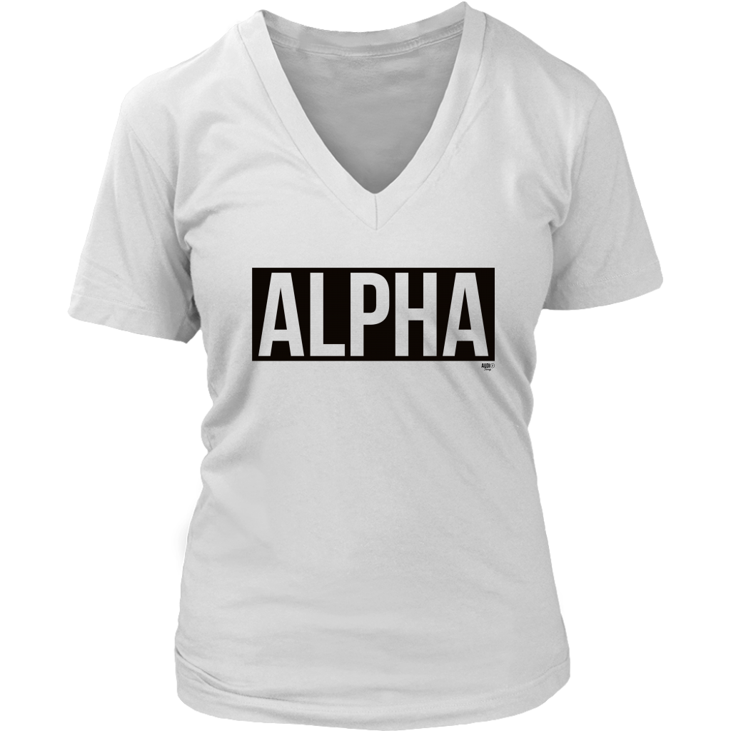 Alpha Ladies V-neck T-shirt - Audio Swag