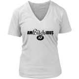 Ambitchious AF Ladies V-Neck Tee - Audio Swag