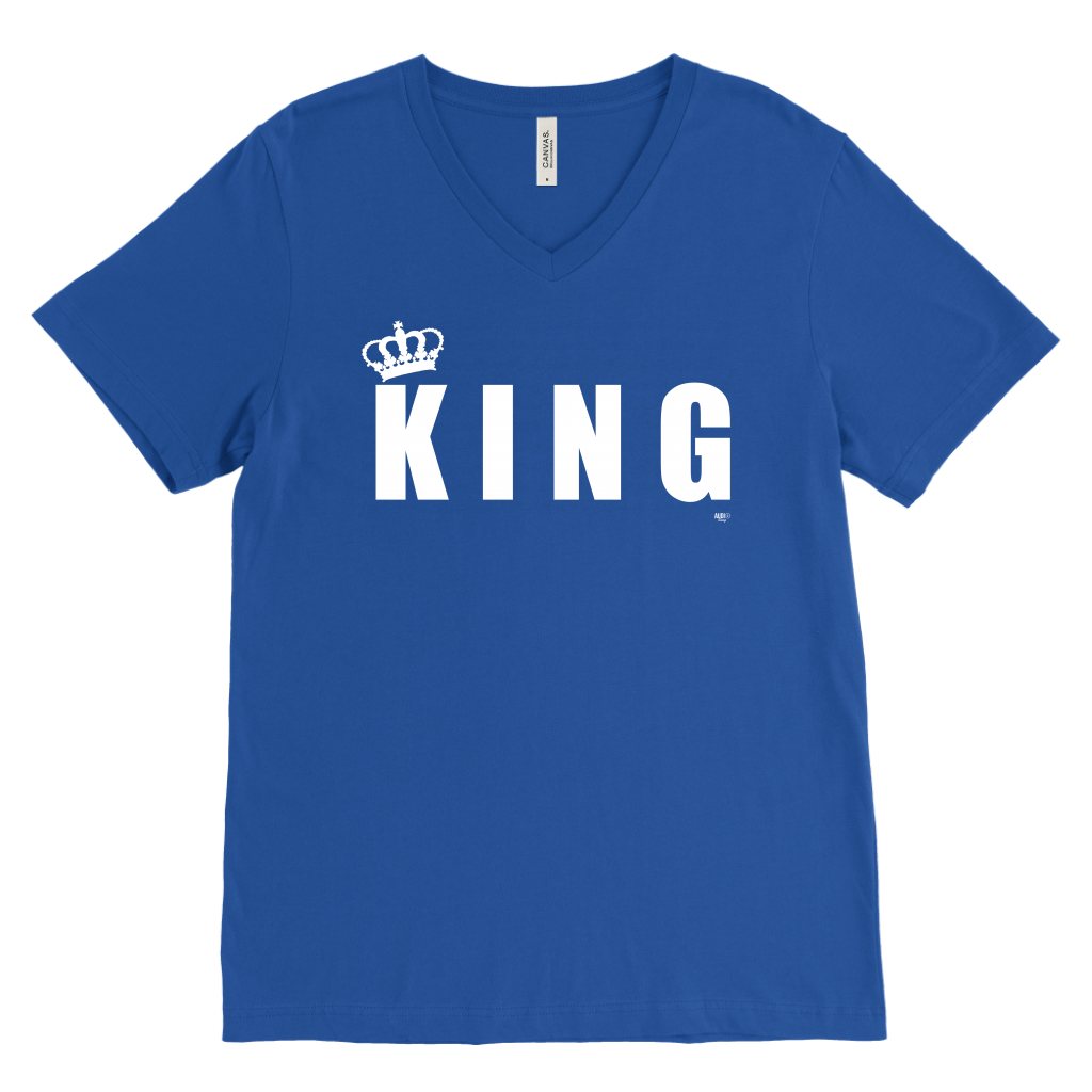 King Mens V-Neck T-shirt - Audio Swag