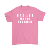 Bad@ss Music Teacher Mens Tee - Audio Swag