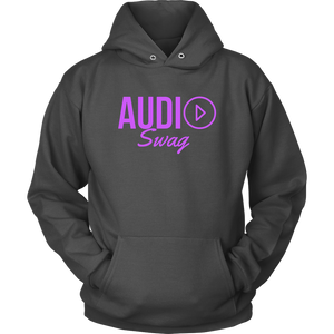 Audio Swag Fuschia Logo Hoodie - Audio Swag