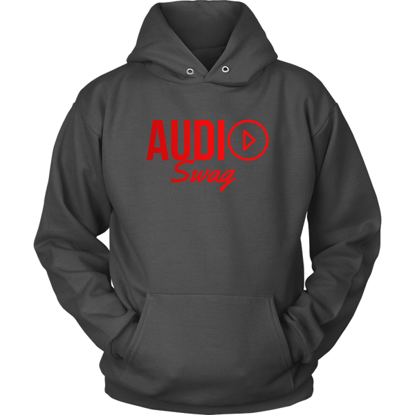 Audio Swag Red Logo Hoodie - Audio Swag