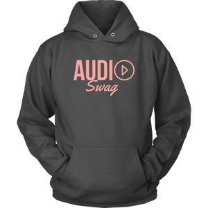 Audio Swag Peach Logo Hoodie - Audio Swag