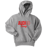 Audio Swag Red Logo Youth Hoodie - Audio Swag