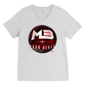 MAXXBEATS Laser Logo Mens V-Neck T-shirt - Audio Swag