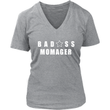 Bad@ss Momager Ladies V-Neck Tee - Audio Swag