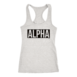 Alpha Ladies Racerback Tank Top - Audio Swag