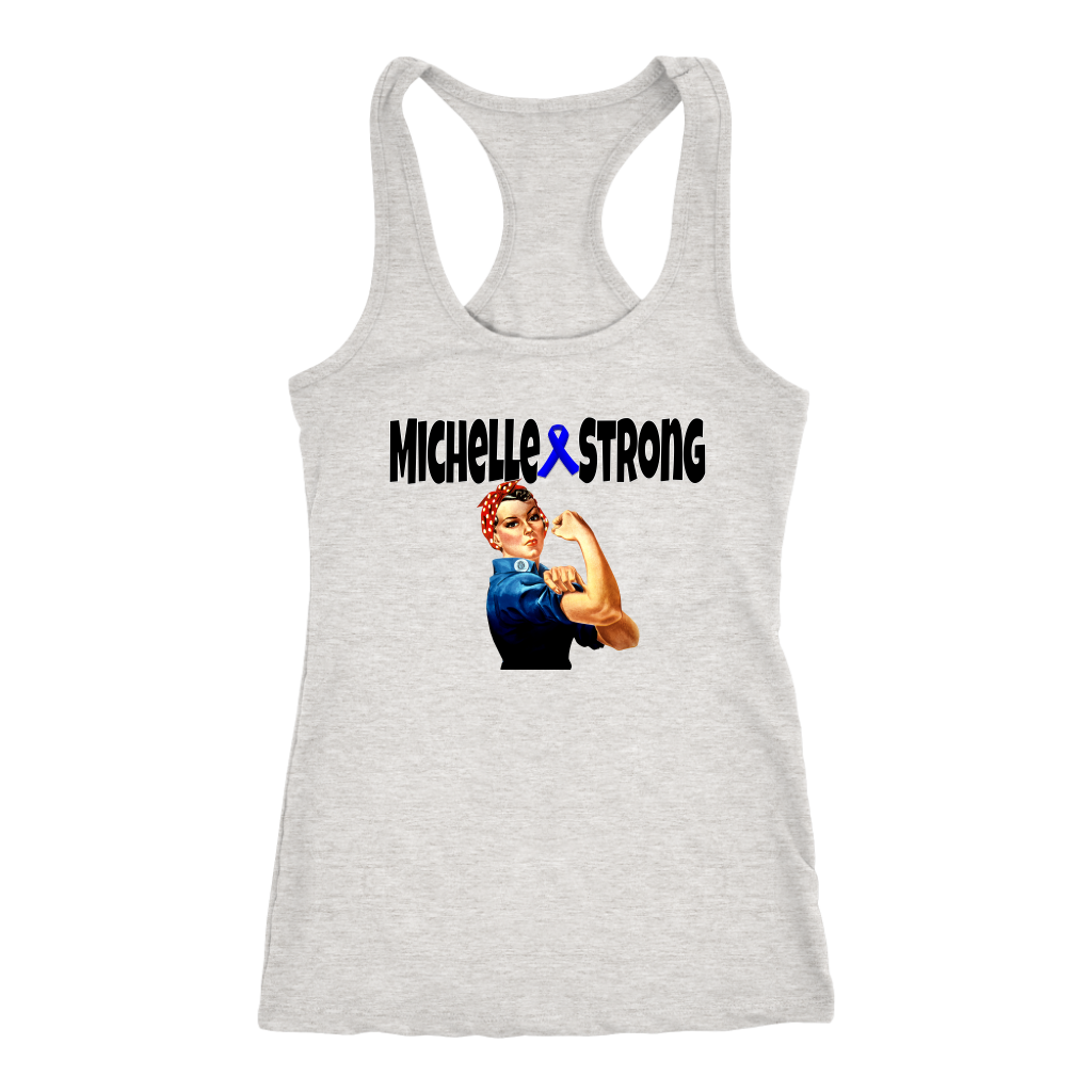 Michelle Strong Ladies Racerback Tank Top - Audio Swag