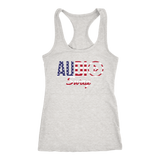 Audio Swag USA Logo Ladies Racerback Tank Top - Audio Swag