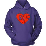 Love Heart Graphic Hoodie - Audio Swag