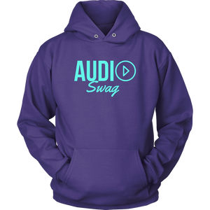 Audio Swag Aqua Logo Hoodie - Audio Swag