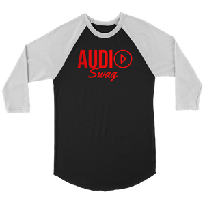 Audio Swag Red Logo Raglan - Audio Swag