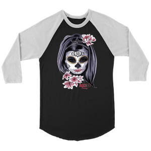 Day Of The Dead Woman Raglan