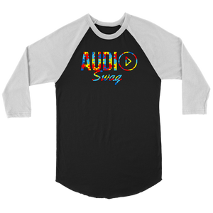 Audio Swag Autism Awareness Puzzle Logo Raglan - Audio Swag
