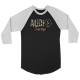 Audio Swag Leopard Logo Raglan - Audio Swag