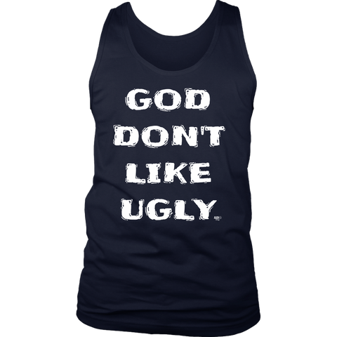 God Don't Like Ugly Mens Tank Top - Audio Swag