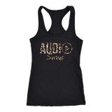 Audio Swag Leopard Logo Ladies Racerback Tank Top - Audio Swag