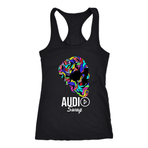 Bright Skull Ladies Racerback Tank Top - Audio Swag