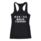 Bad@ss Music Teacher Ladies Racerback Tank Top - Audio Swag