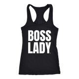 Boss Lady Ladies Racerback Tank Top - Audio Swag