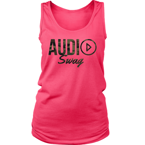 Audio Swag Camo Logo Ladies Tank Top - Audio Swag