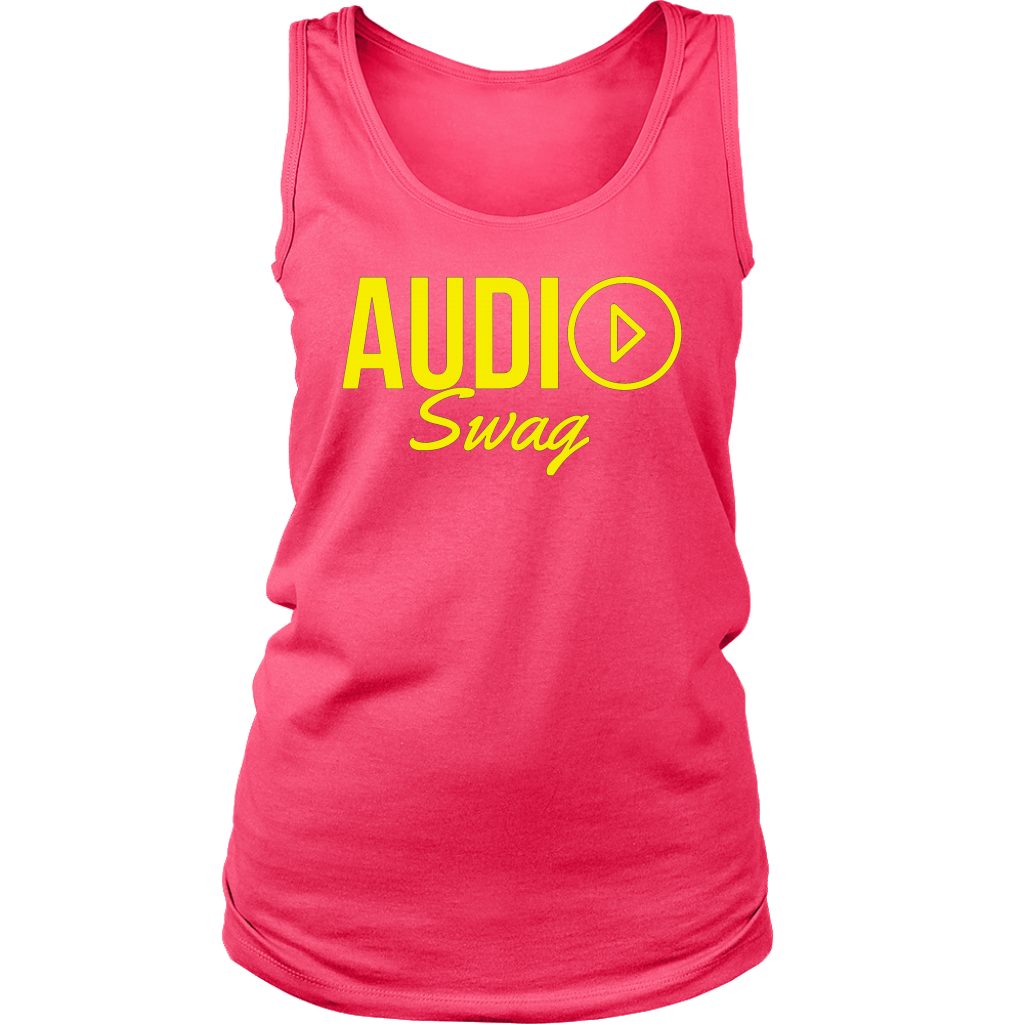 Audio Swag Yellow Logo Ladies Tank Top - Audio Swag