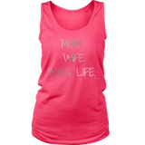 Mom. Wife. Boss Life. Ladies Tank - Audio Swag