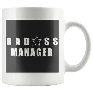 Bad@ss Manager Mug - Audio Swag