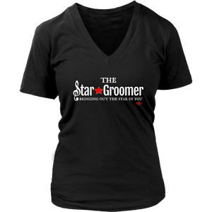 The Star Groomer Ladies V-neck T-shirt - Audio Swag