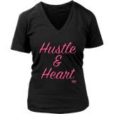 Hustle & Heart Ladies V-neck T-shirt - Audio Swag