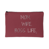 Mom. Wife. Boss Life. Large Accessory Pouch - Audio Swag