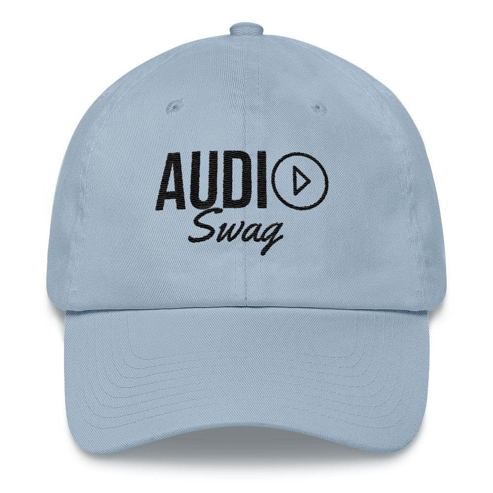 Audio Swag Black Logo Light Dad hat - Audio Swag
