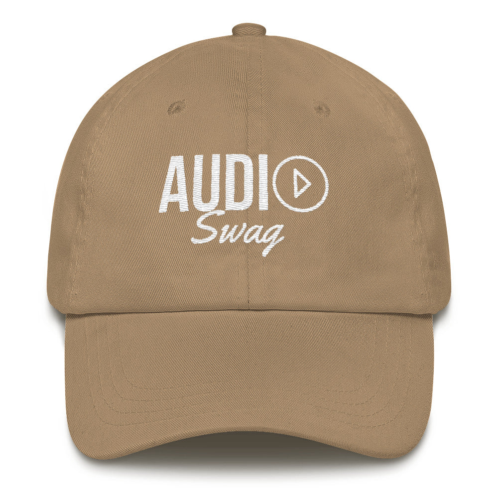 Audio Swag White Logo Dark Dad hat - Audio Swag