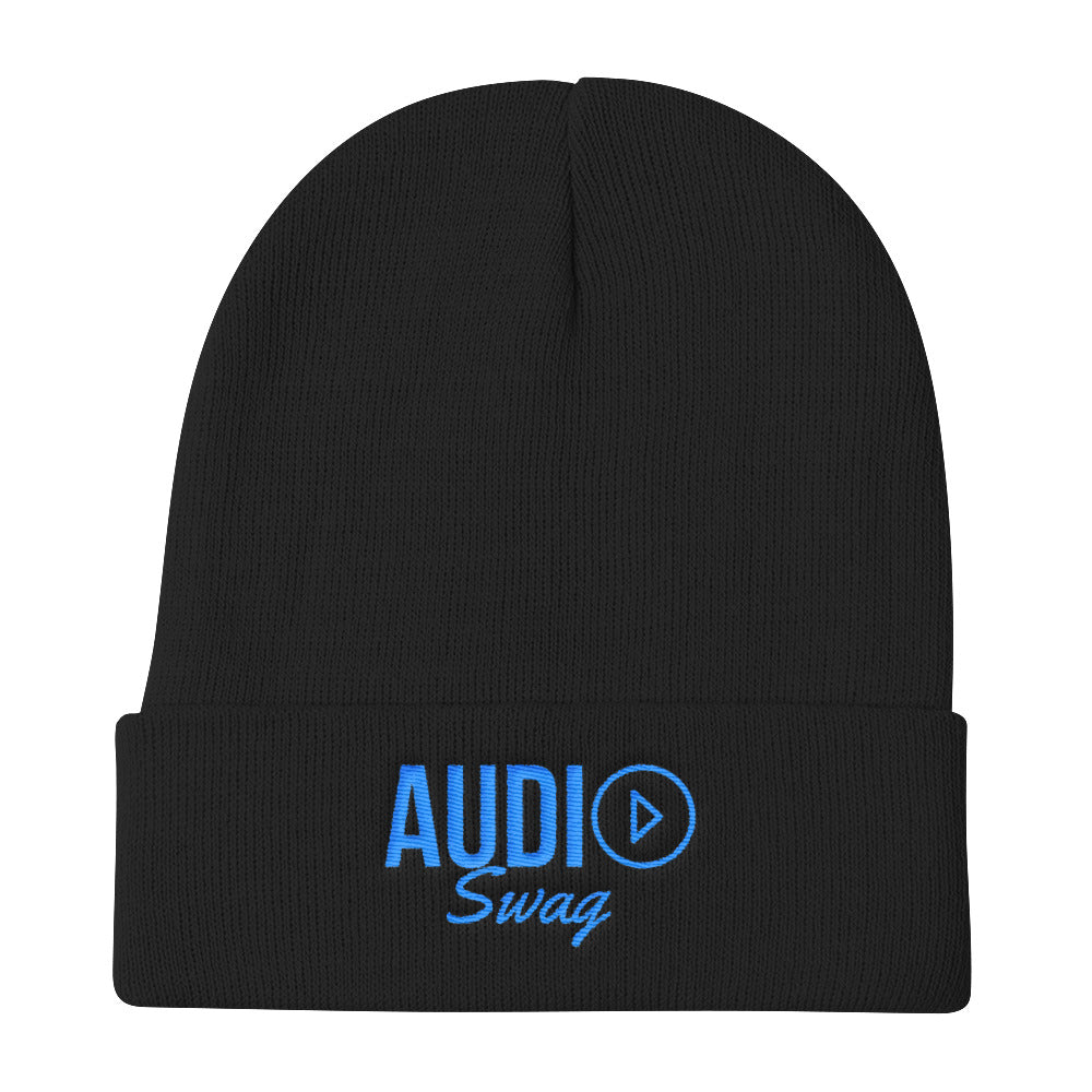 Audio Swag Blue Logo Knit Beanie - Audio Swag