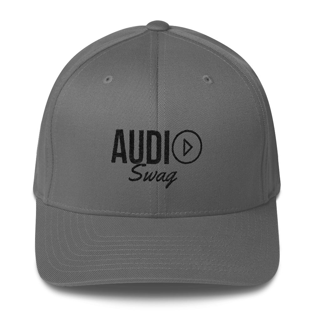 Audio Swag Black Logo Light Flexfit Structured Twill Cap - Audio Swag