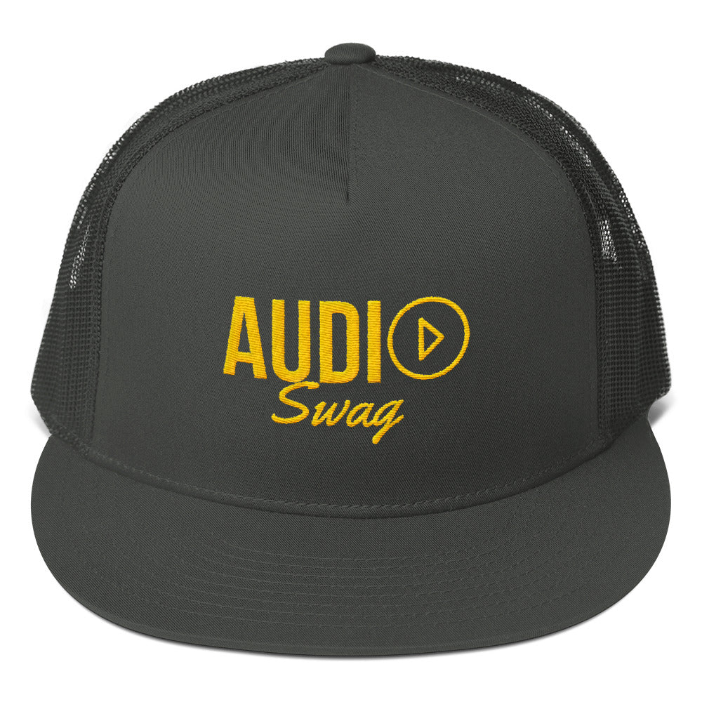 Audio Swag Yellow Logo Mesh Back Snapback - Audio Swag