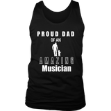 Proud Dad of an Amazing Musician Mens Tank - Audio Swag