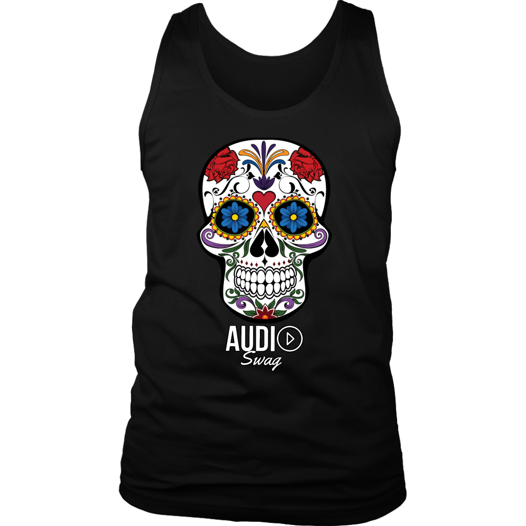 Sugar Skull Audio Swag Mens Tank Top - Audio Swag
