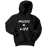 Music = Life Youth Hoodie - Audio Swag