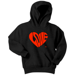 Love Heart Graphic Youth Hoodie
