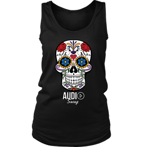 Sugar Skull Audio Swag Ladies Tank Top - Audio Swag