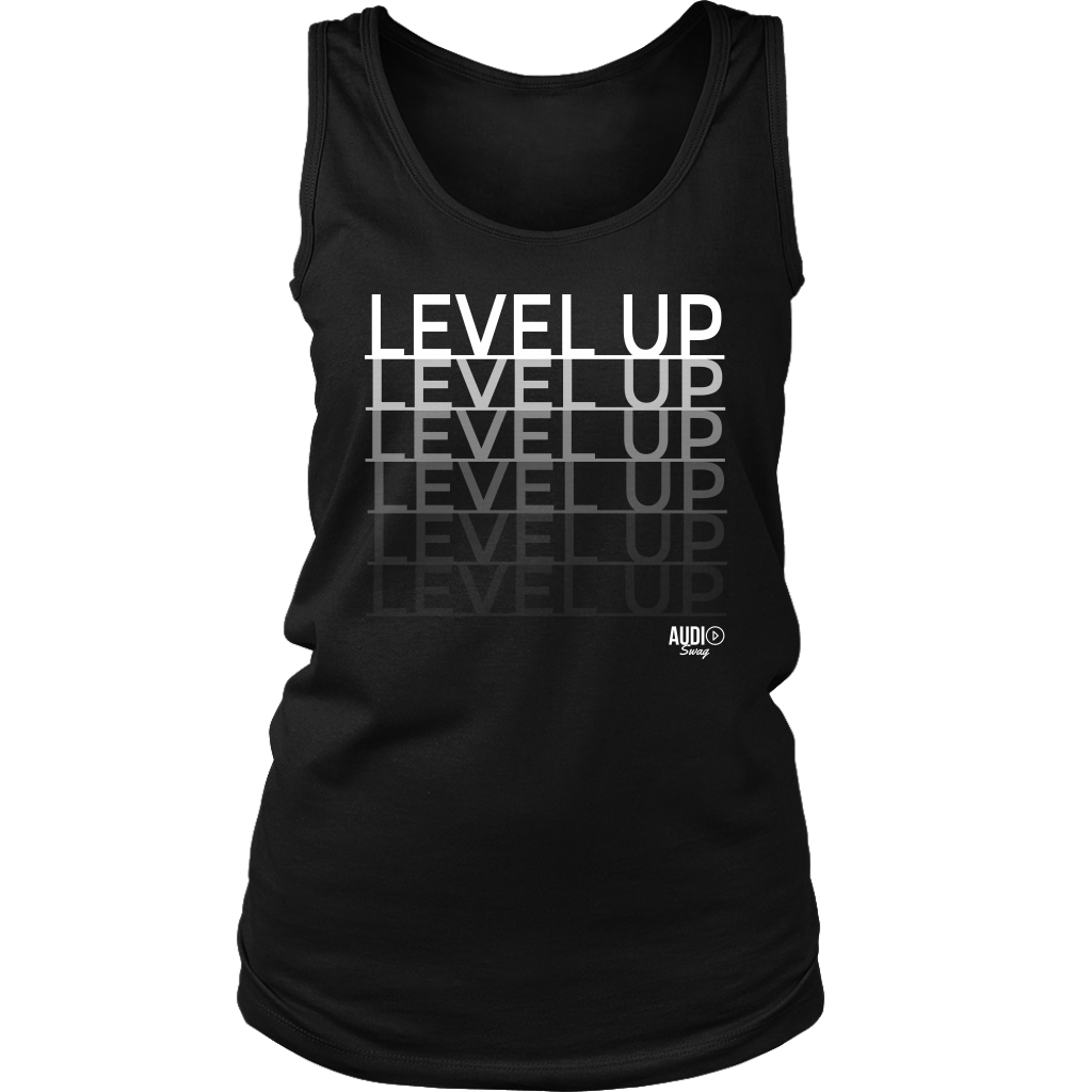 Level Up Fade Ladies Tank Top - Audio Swag