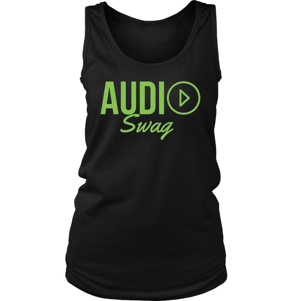 Audio Swag Green Logo Ladies Tank Top - Audio Swag