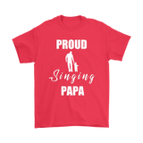 Proud Singing Papa Mens Tee - Audio Swag
