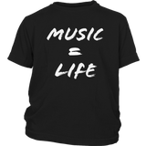 Music = Life Youth T-shirt - Audio Swag