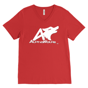 AlphaWolfe Mens V-neck T-shirt - Audio Swag