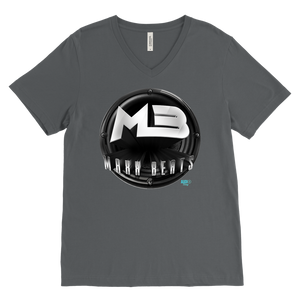 MAXXBEATS Logo Mens V-Neck Tee - Audio Swag