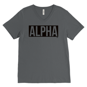 Alpha Mens V-neck T-shirt - Audio Swag